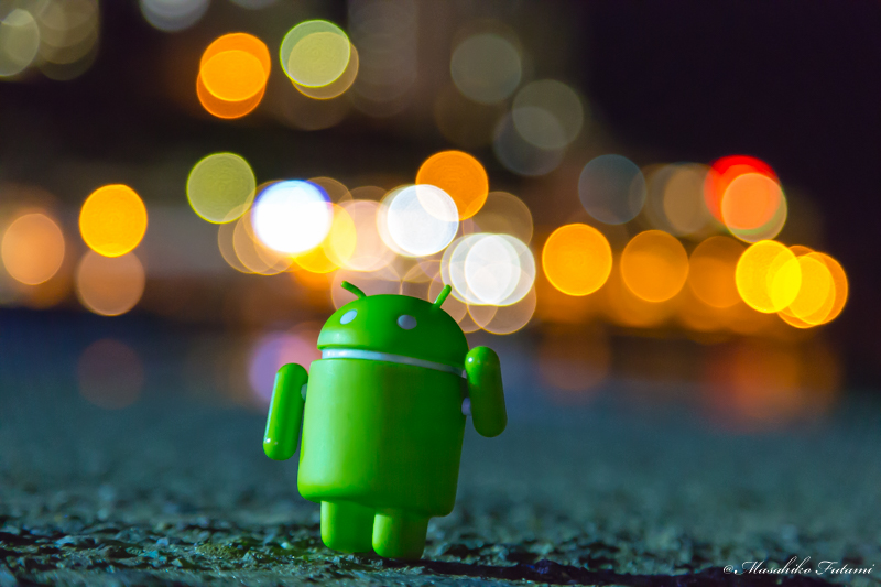 Droid-kun and Bokeh