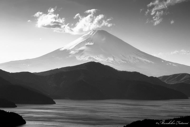 Mt. Fuji in Black and White