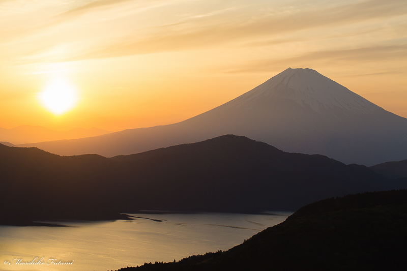 Sunset at Mt. Fuji