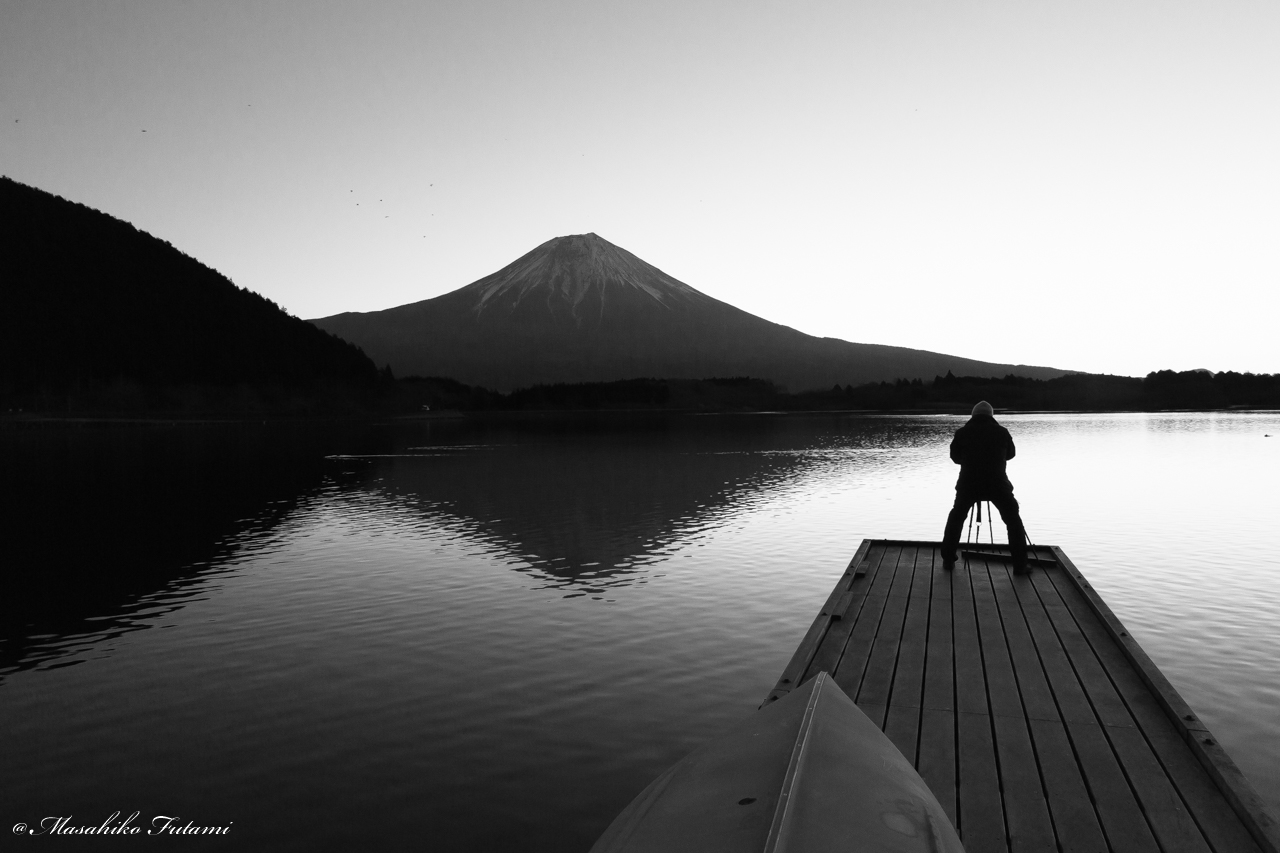 Photographer and Mt. Fuji