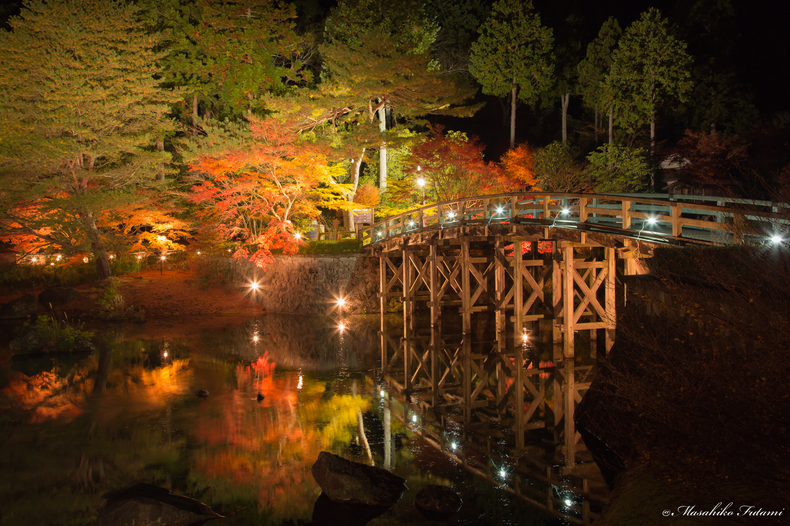 Bridge Toward the Autumn in Japan