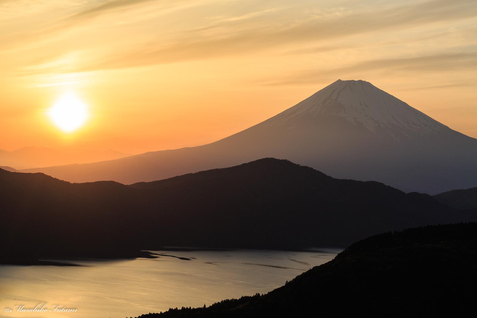 Sunset at Mt. Fuji