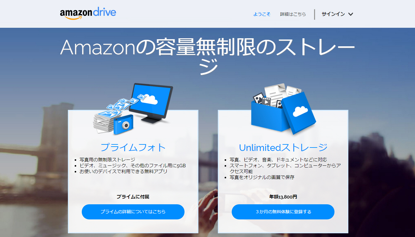 Amazon Drive / (Prime Photos)